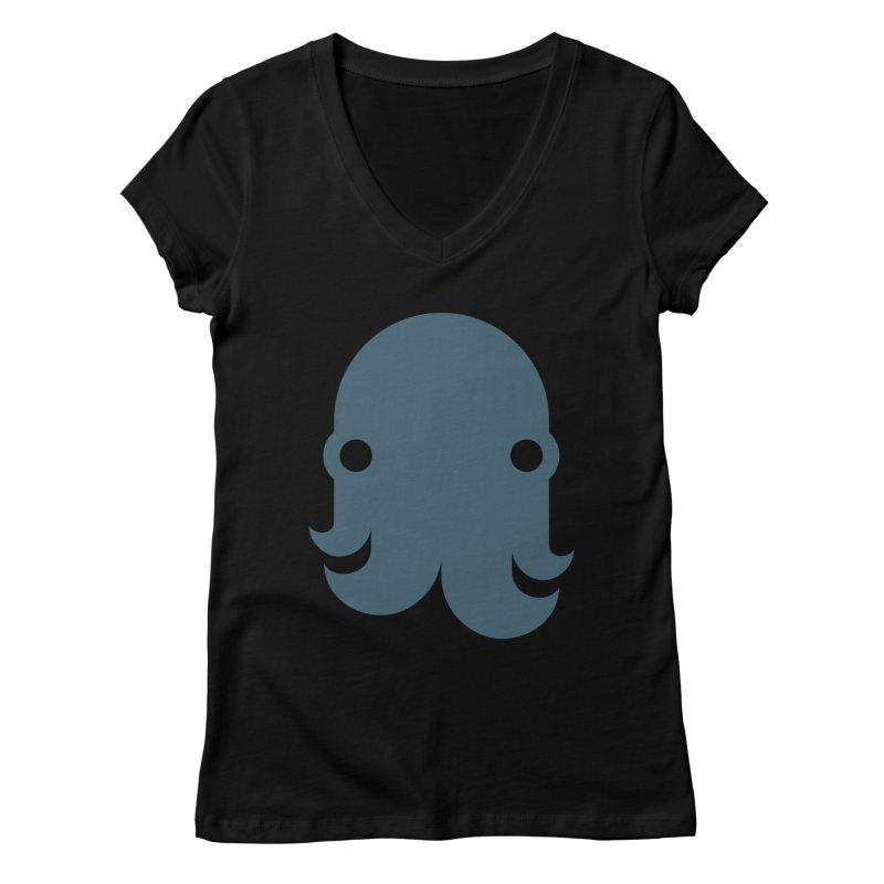The Kraken! (Slate) Women's V-Neck by octopy