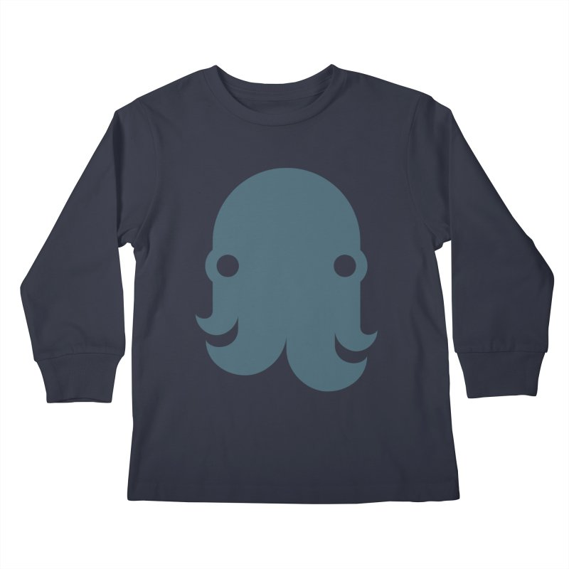 The Kraken! (Slate) Kids Longsleeve T-Shirt by octopy