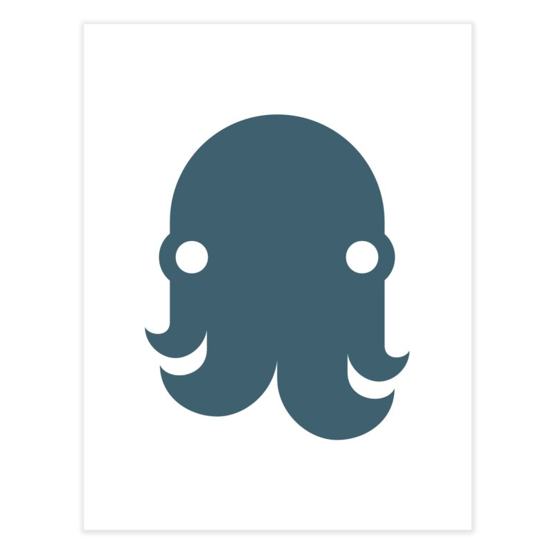 The Kraken! (Slate) Home Fine Art Print by octopy