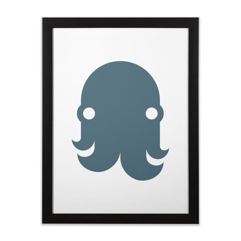 The Kraken! (Slate) Home Framed Fine Art Print by octopy