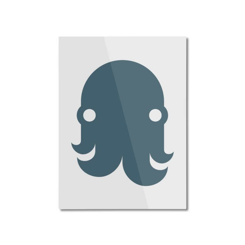 The Kraken! (Slate) Home Mounted Aluminum Print by octopy