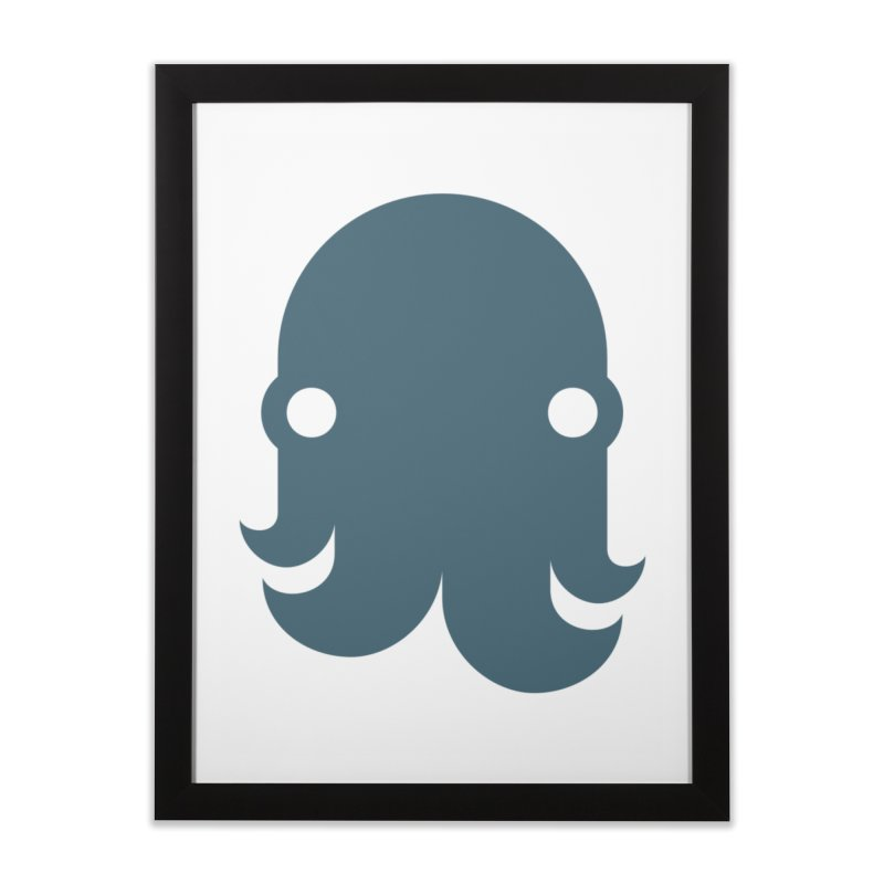 The Kraken! (Slate) Home Framed Fine Art Print by octopy
