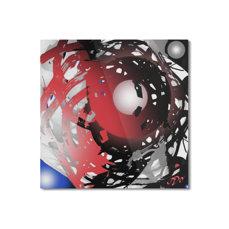 Chaos Practice Home Mounted Aluminum Print by Odd Dad Out Shop
