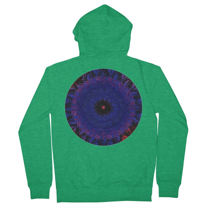 Chaos Eye Men's Zip-Up Hoody by Odd Dad Out Shop