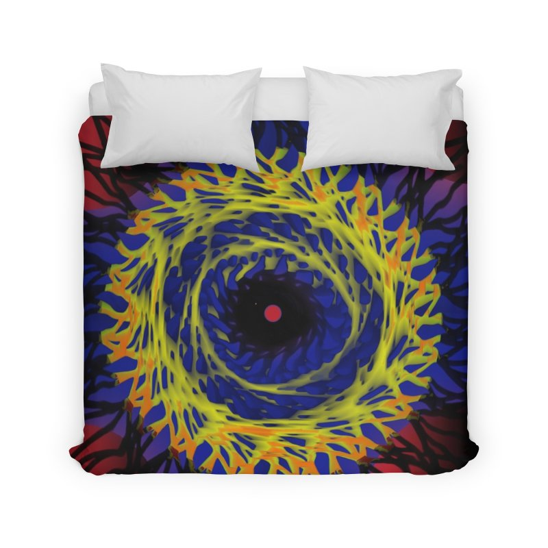 Chaos Eye (Variant) Home Duvet by Odd Dad Out Shop