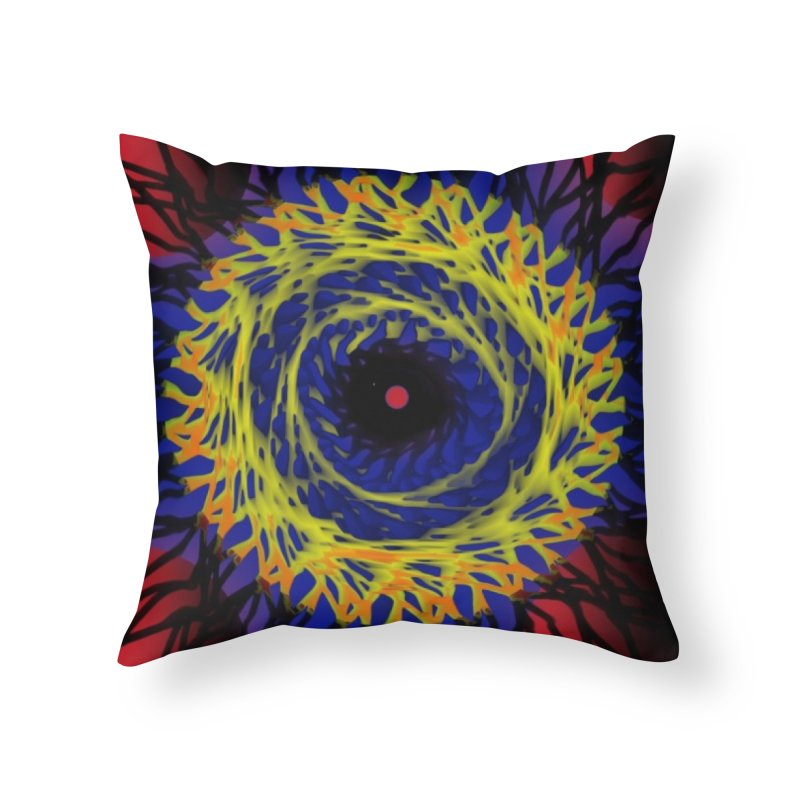 Chaos Eye (Variant) Home Throw Pillow by Odd Dad Out Shop