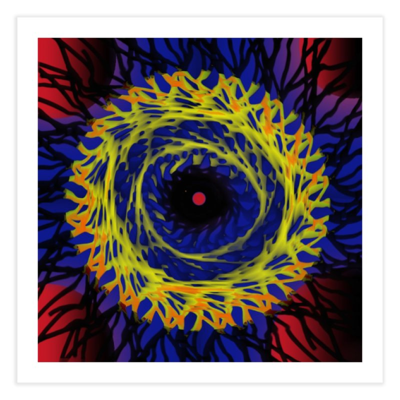 Chaos Eye (Variant) Home Fine Art Print by Odd Dad Out Shop
