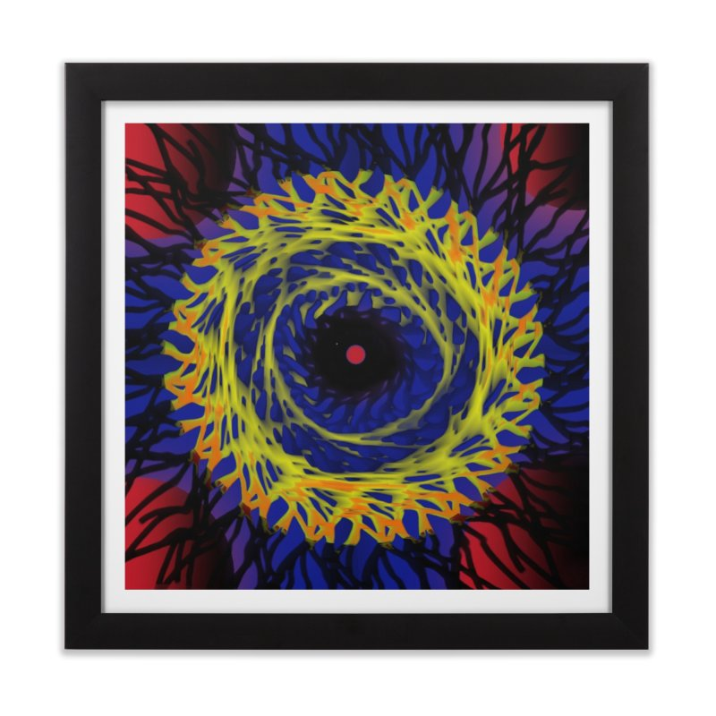 Chaos Eye (Variant) Home Framed Fine Art Print by Odd Dad Out Shop