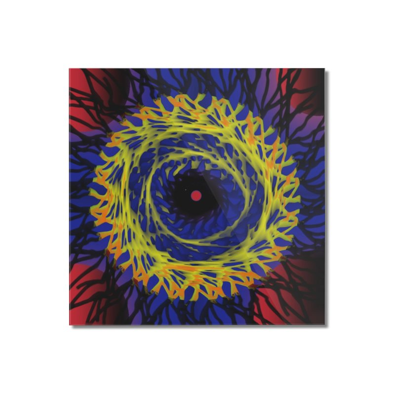 Chaos Eye (Variant) Home Mounted Acrylic Print by Odd Dad Out Shop