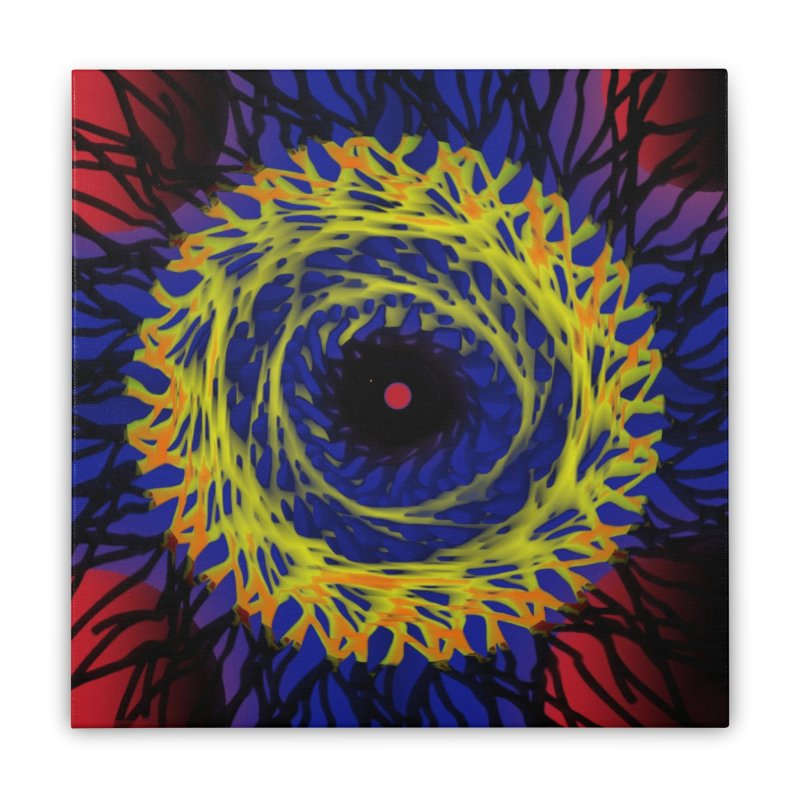 Chaos Eye (Variant) Home Stretched Canvas by Odd Dad Out Shop