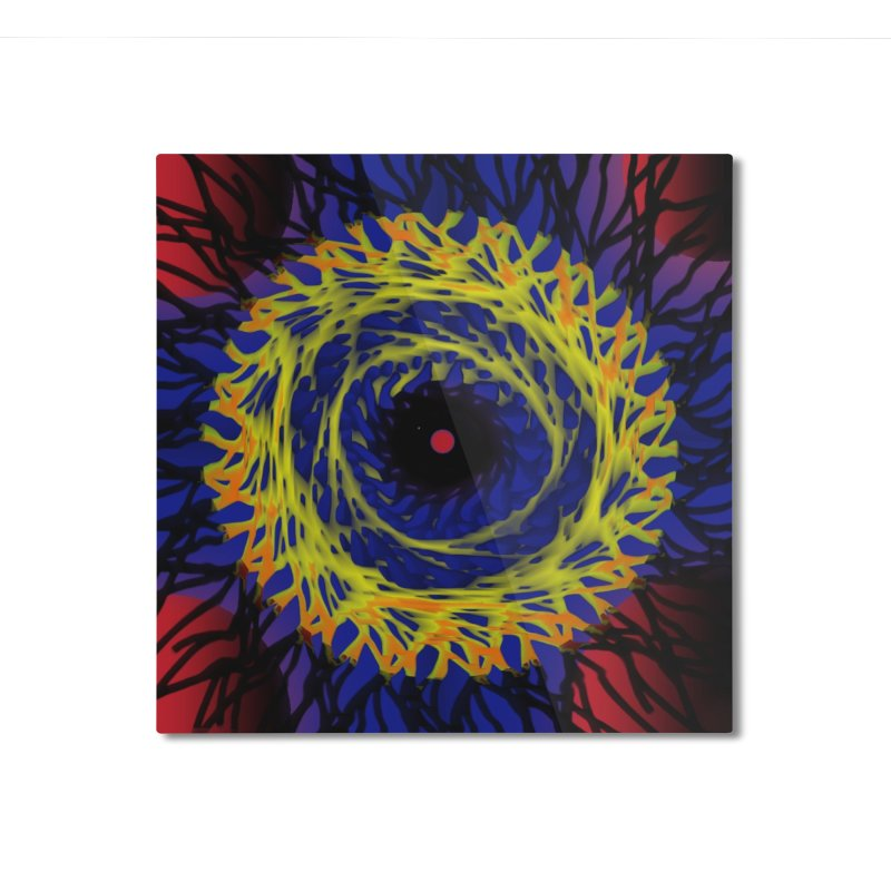 Chaos Eye (Variant) Home Mounted Aluminum Print by Odd Dad Out Shop
