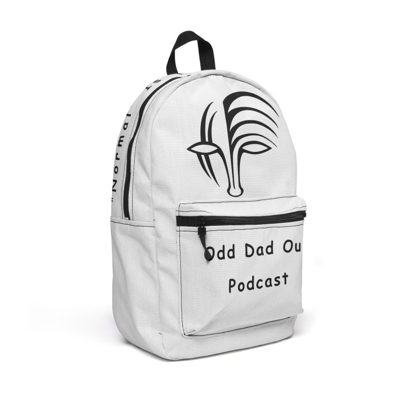 ODO Logo (black) Accessories Backpack Bag by Odd Dad Out Shop