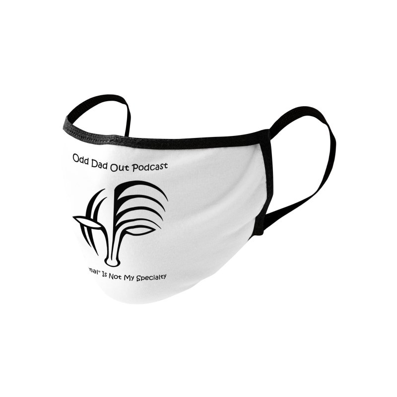 ODO Logo (black) Accessories Face Mask by Odd Dad Out Shop