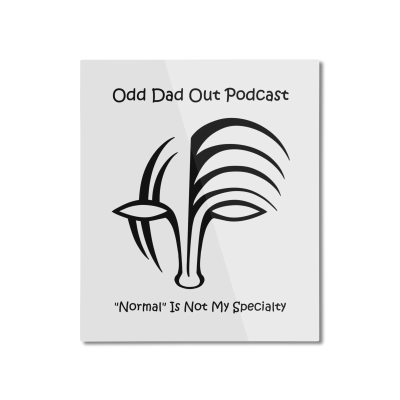 ODO Logo Home Mounted Aluminum Print by Odd Dad Out Shop