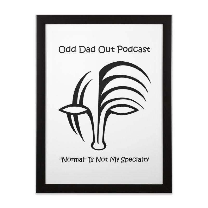 ODO Logo Home Framed Fine Art Print by Odd Dad Out Shop