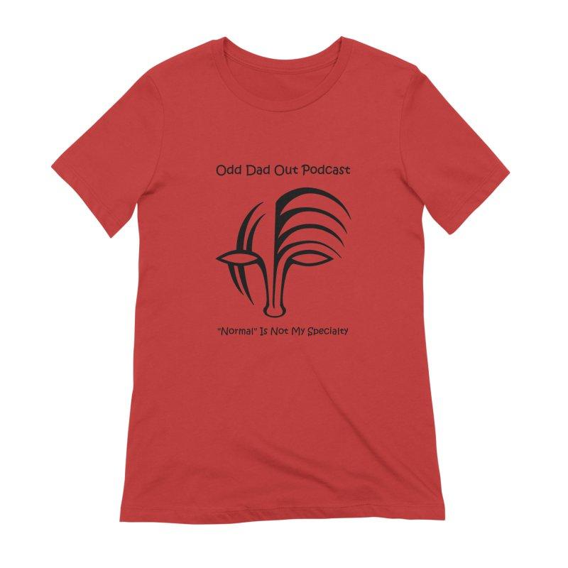 ODO Logo (black) Women's Extra Soft T-Shirt by Odd Dad Out Shop