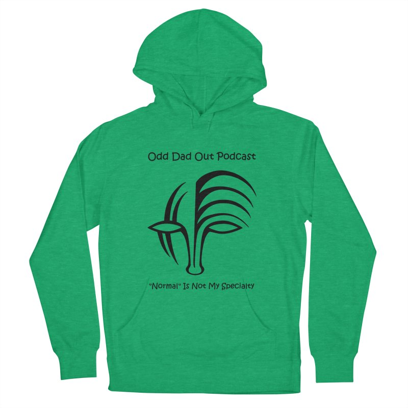 ODO Logo (black) Women's French Terry Pullover Hoody by Odd Dad Out Shop