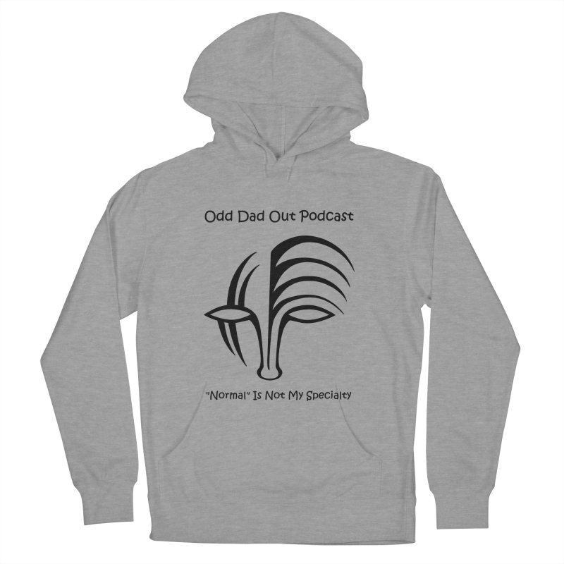 ODO Logo (black) Men's French Terry Pullover Hoody by Odd Dad Out Podcast Gear