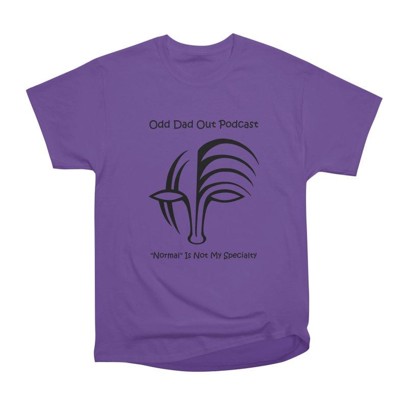 ODO Logo (black) Men's Heavyweight T-Shirt by Odd Dad Out Shop