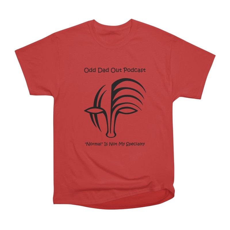 ODO Logo (black) Women's Heavyweight Unisex T-Shirt by Odd Dad Out Podcast Gear