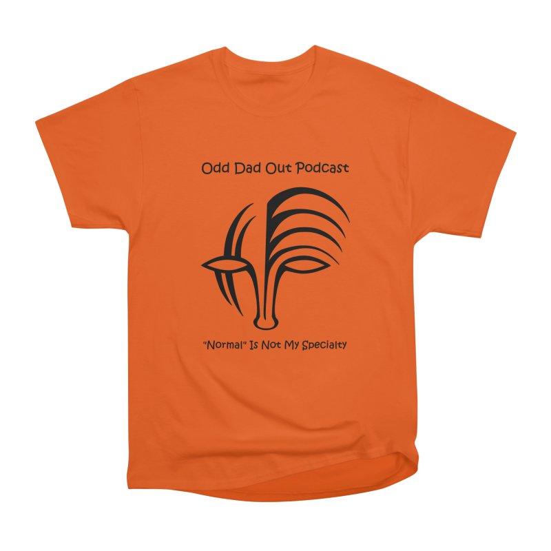 ODO Logo (black) Women's Heavyweight Unisex T-Shirt by Odd Dad Out Shop