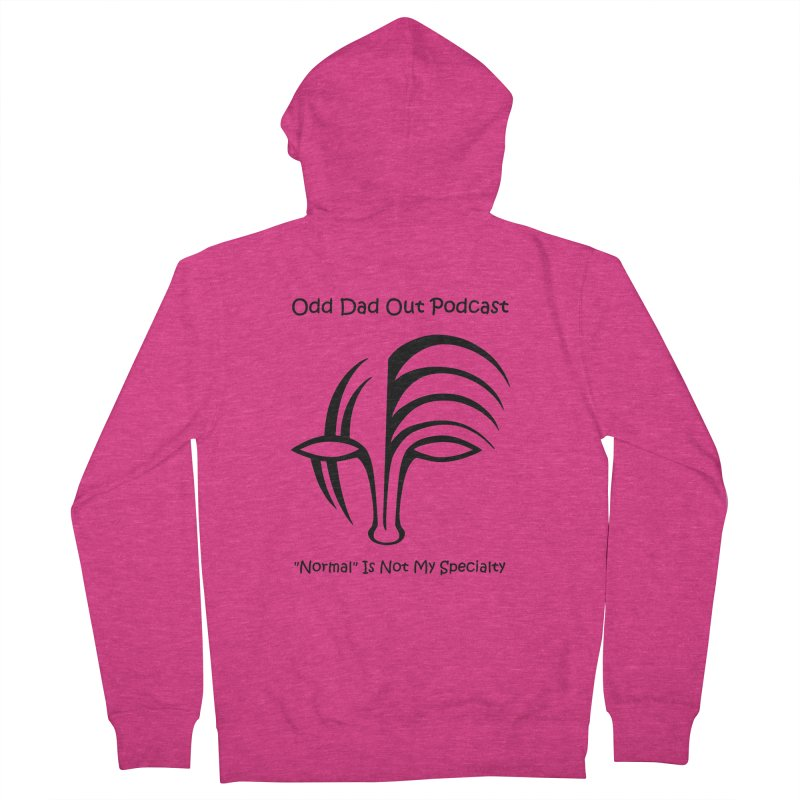 ODO Logo (black) Women's French Terry Zip-Up Hoody by Odd Dad Out Podcast Gear