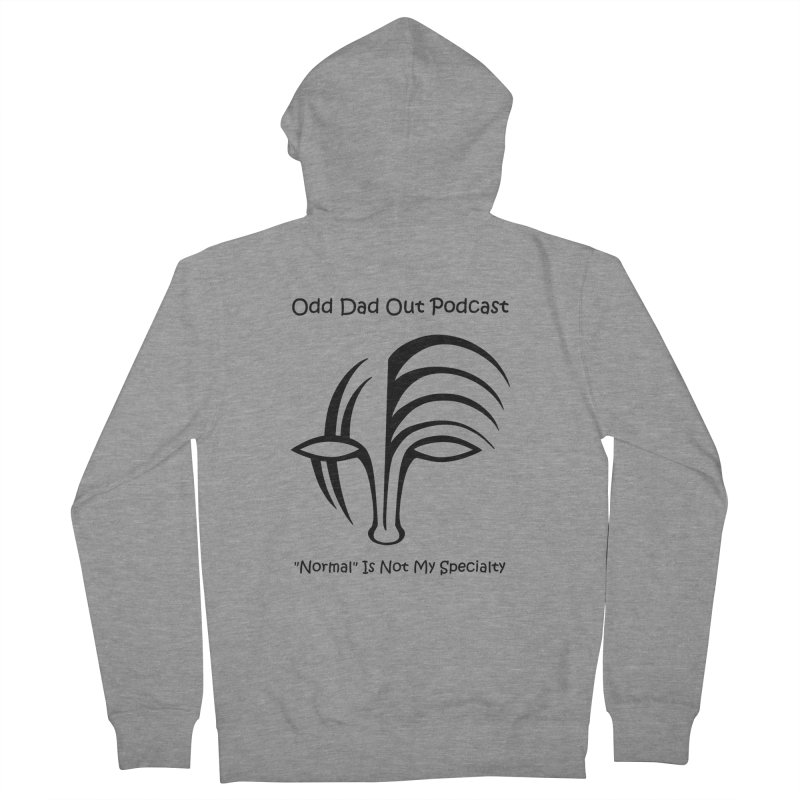 ODO Logo (black) Men's French Terry Zip-Up Hoody by Odd Dad Out Podcast Gear