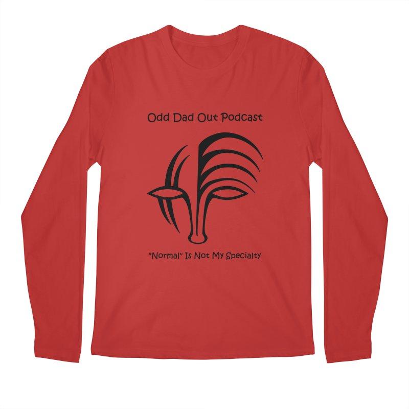 ODO Logo (black) Men's Regular Longsleeve T-Shirt by Odd Dad Out Shop