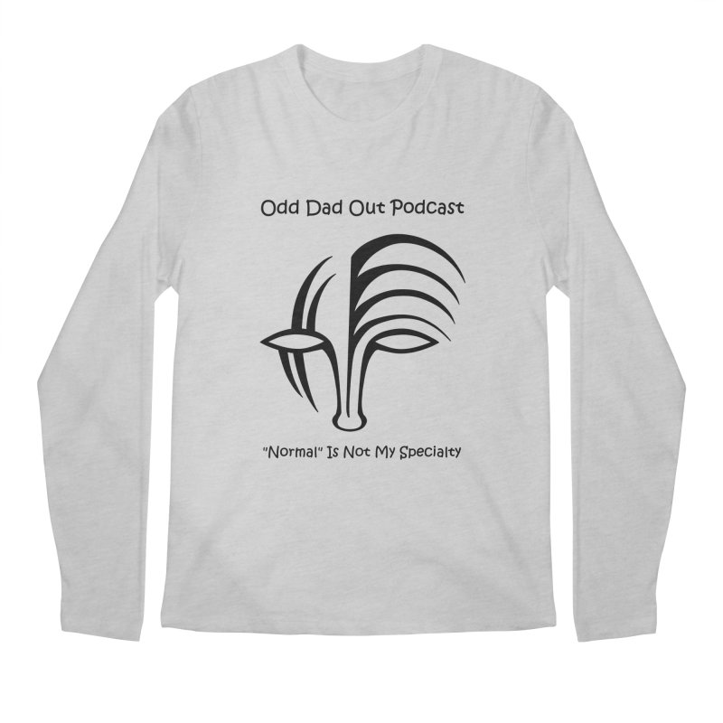 ODO Logo (black) Men's Regular Longsleeve T-Shirt by Odd Dad Out Podcast Gear