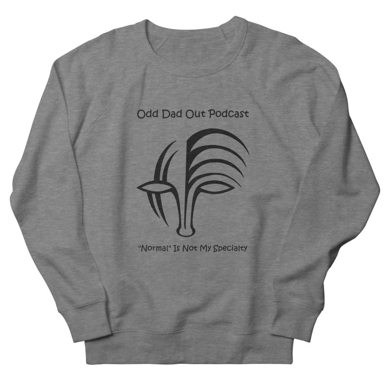 ODO Logo (black) Women's French Terry Sweatshirt by Odd Dad Out Shop