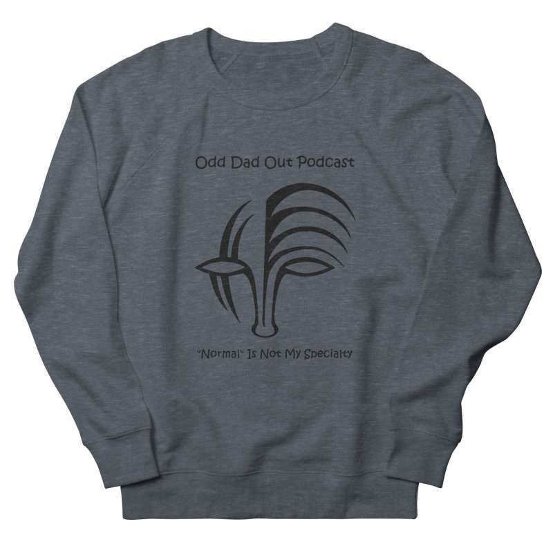 ODO Logo (black) Men's French Terry Sweatshirt by Odd Dad Out Podcast Gear