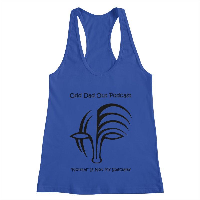 ODO Logo (black) Women's Racerback Tank by Odd Dad Out Shop
