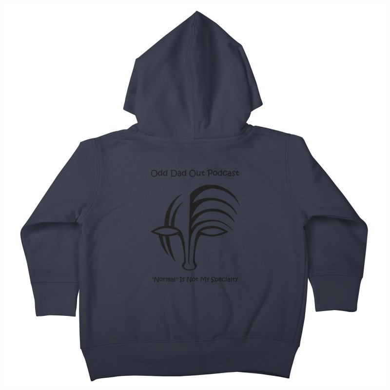 ODO Logo (black) Kids Toddler Zip-Up Hoody by Odd Dad Out Podcast Gear