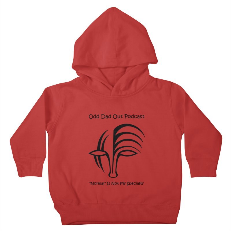 ODO Logo (black) Kids Toddler Pullover Hoody by Odd Dad Out Podcast Gear