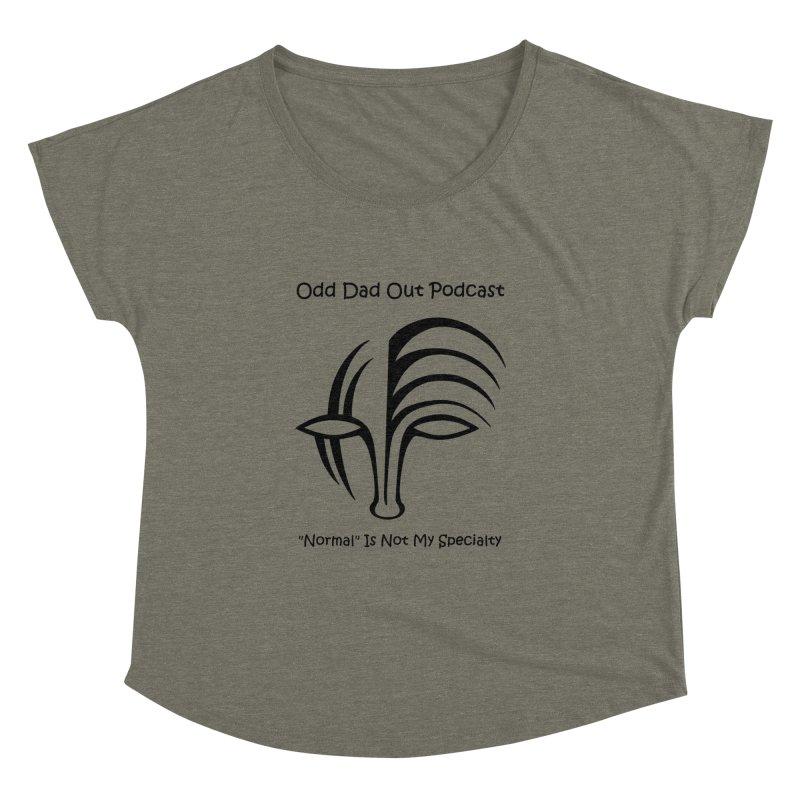 ODO Logo (black) Women's  by Odd Dad Out Podcast Gear