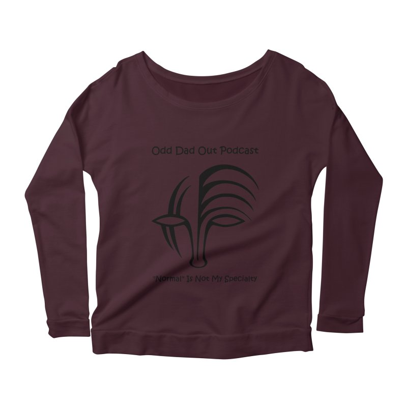 ODO Logo (black) Women's Scoop Neck Longsleeve T-Shirt by Odd Dad Out Podcast Gear