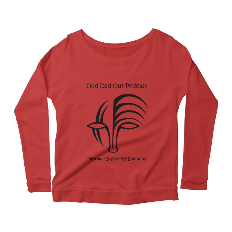 ODO Logo (black) Women's Scoop Neck Longsleeve T-Shirt by Odd Dad Out Podcast Gear