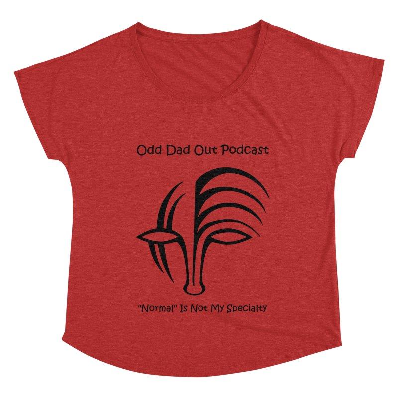 ODO Logo (black) Women's Dolman Scoop Neck by Odd Dad Out Shop