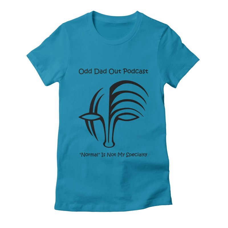ODO Logo (black) Women's Fitted T-Shirt by Odd Dad Out Shop