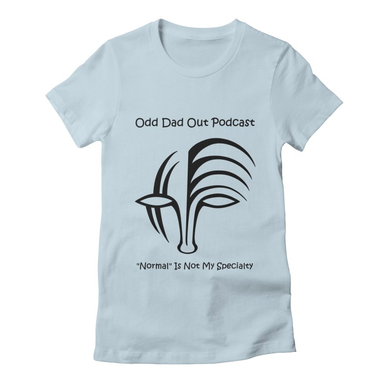 ODO Logo (black) Women's Fitted T-Shirt by Odd Dad Out Podcast Gear