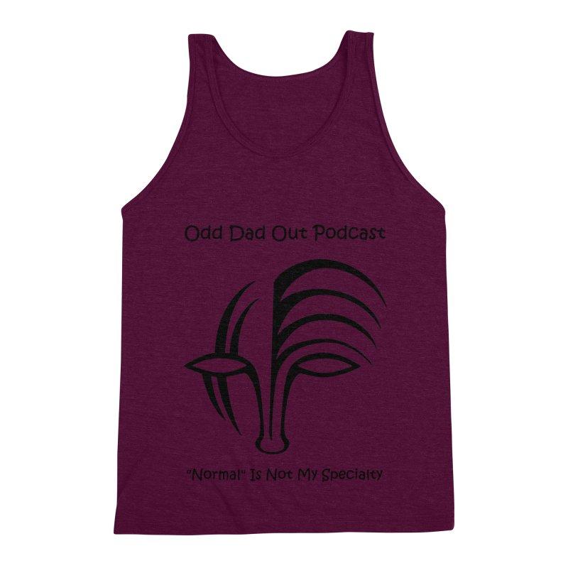 ODO Logo (black) Men's Triblend Tank by Odd Dad Out Shop