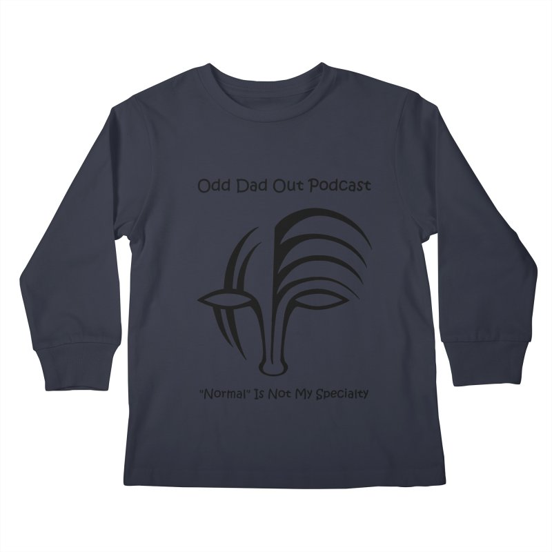 ODO Logo (black) Kids Longsleeve T-Shirt by Odd Dad Out Podcast Gear
