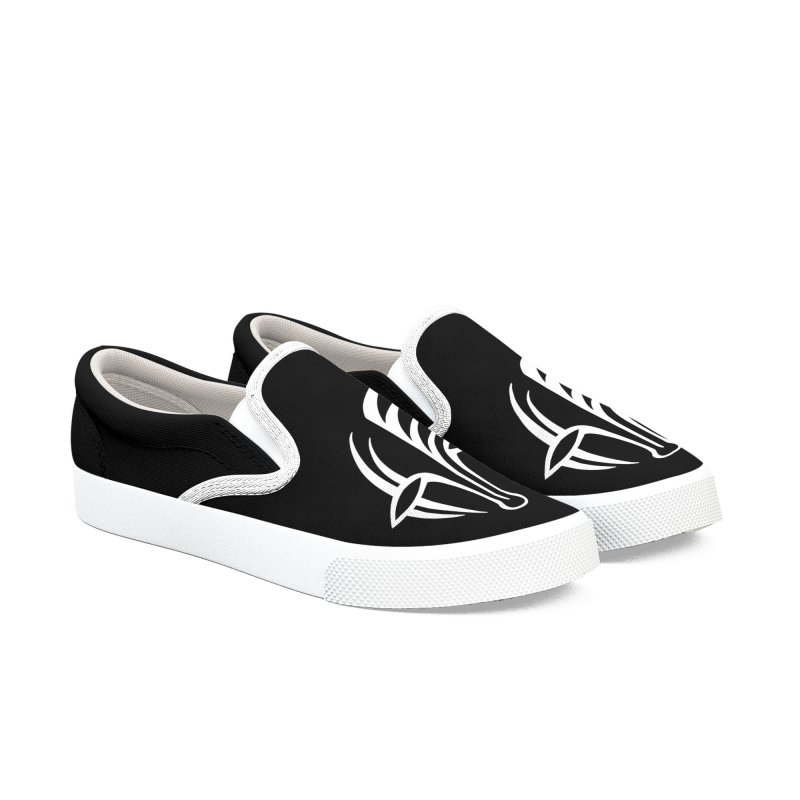 ODO Logo (white) Women's Slip-On Shoes by Odd Dad Out Shop