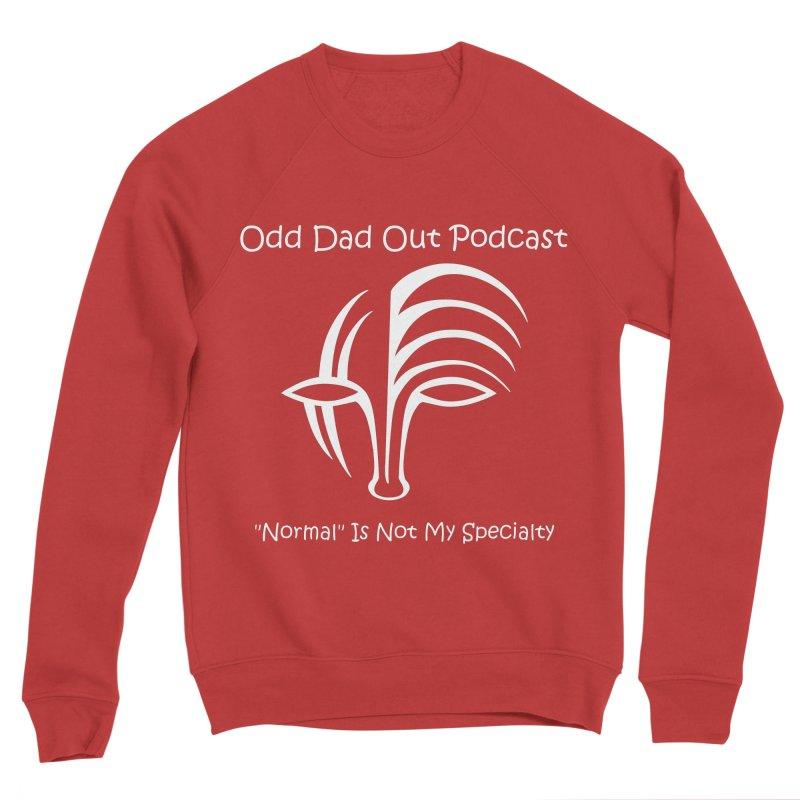 ODO Logo (white) Men's Sponge Fleece Sweatshirt by Odd Dad Out Shop