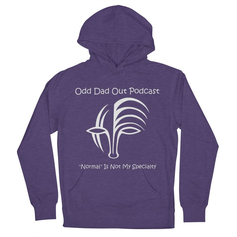 ODO Logo (white) Women's French Terry Pullover Hoody by Odd Dad Out Shop