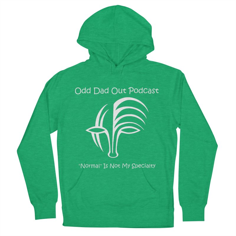 ODO Logo (white) Men's French Terry Pullover Hoody by Odd Dad Out Shop
