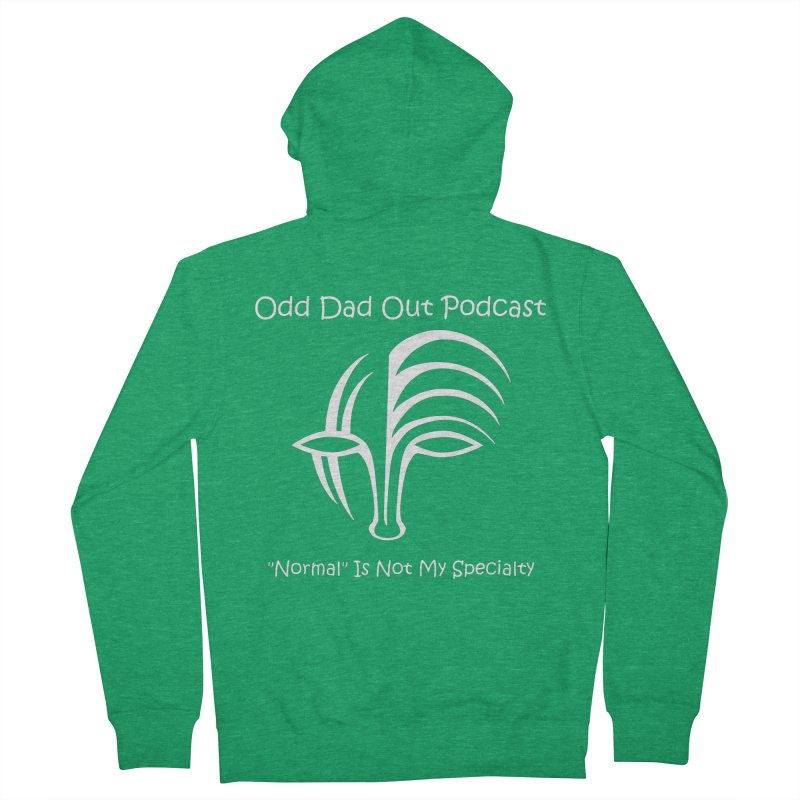 ODO Logo (Inverted) Women's Zip-Up Hoody by Odd Dad Out Shop