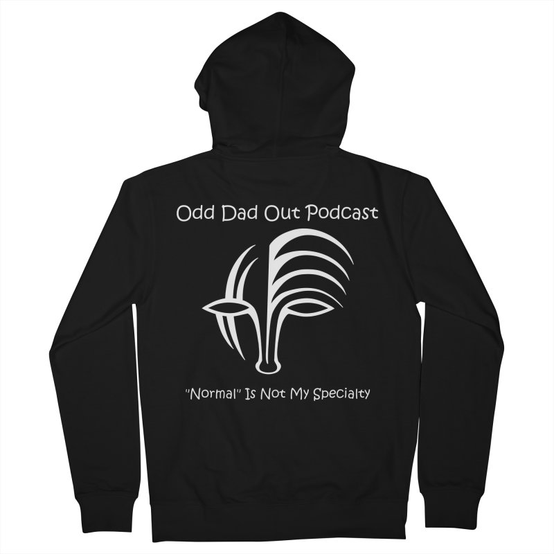 ODO Logo (white) Men's French Terry Zip-Up Hoody by Odd Dad Out Shop