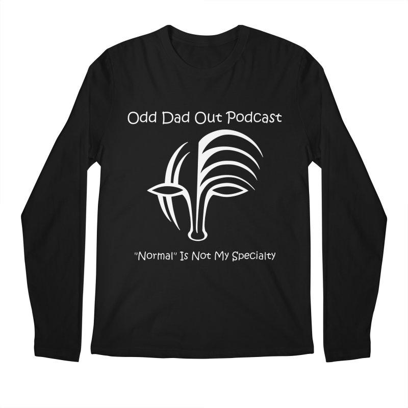 ODO Logo (white) Men's Regular Longsleeve T-Shirt by Odd Dad Out Shop