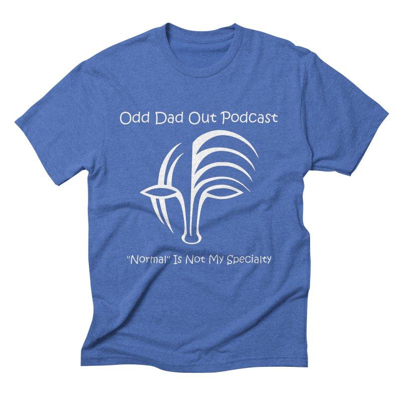 ODO Logo (white) Men's Triblend T-Shirt by Odd Dad Out Shop